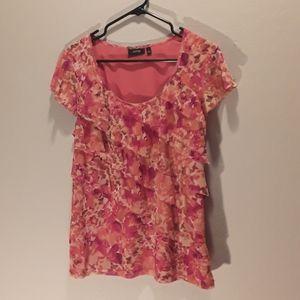 Apt. 9 Pink/Red sleeveless top